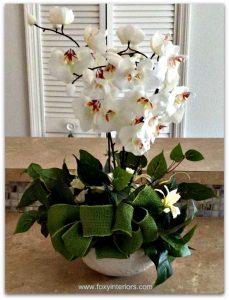 faux-white-orchid-arrangement
