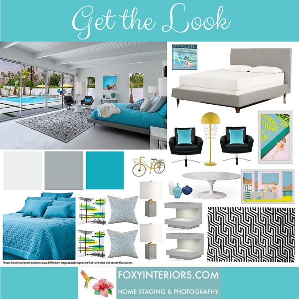 turquoise bedroom shoppable links